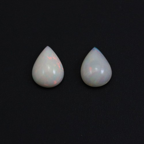 Cabochon opale ethiopian goutte 15*20mm x 1pc