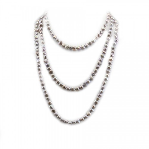 Freshwater Pearl & Black Agate Necklace Alida