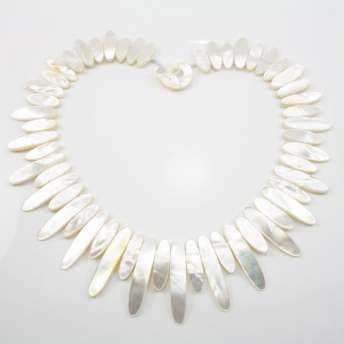 Simple Necklace White Nacre