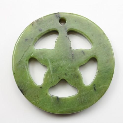 Pendant Canadian Jade Round