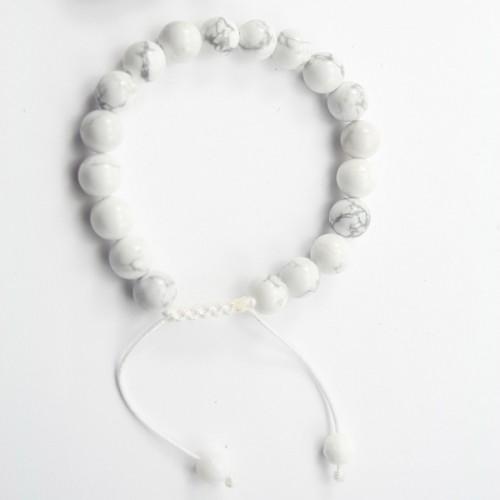 Bracelet Holite  boule rond 8mm