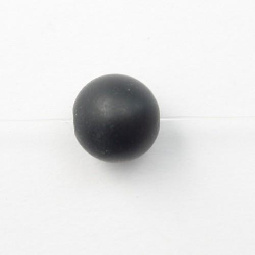Black Matt Stones Round 4mm X 20 pcs