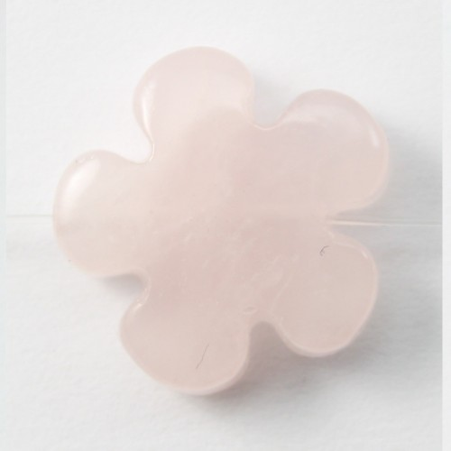Quartez rose en fleur 15mm X 2 pcs