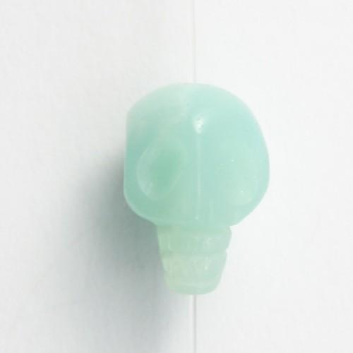 Amazonite tête de mort 10mm